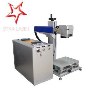 Blue 10W Fiber Laser Marking Machine, Pipe Laser Marking Engraving Machine