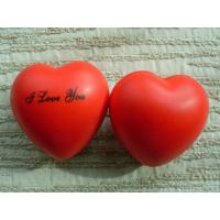 Best Promotional custom red heart-shaped PU foam stress reliever ball with logo printed wholesale
