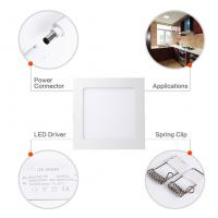 Best 18W 8 Inch Dimmable Ultra Thin Square LED Panel Light 120W Incandescent Equivalent wholesale