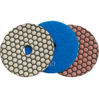 China 150mm Dry Diamond Polishing Pads For Granite , Concrete , Quartz Stone on sale