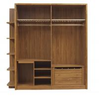 Best Open doors cloth armoire by wood panel with Sock and tie tray inside drawer chest in metal sliding rail outside racks wholesale