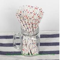 Best Five Pointed Star Pattern Colored Paper Straws For Cold Drink , Eco Friendly wholesale