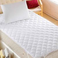 Best King Size White Quilted Waterproof Mattress Protector TPU Laminated wholesale