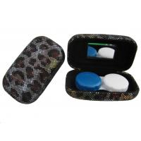 Best Hard Creative Travel Contact Case With Cool Leopard Pattern Customized Logo wholesale