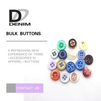 Best Round Natural Imitation White Shell Buttons For Women'S Clothing wholesale