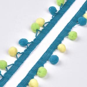 China 20KJ36 Macrame Cotton 3cm  Pom Pom Fabric Trim on sale