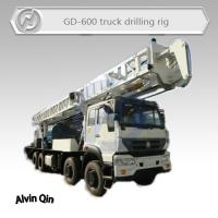 China 600 meters depth Truck mounted core drilling machine for mineral exploration on sale