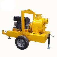 electric motor powered self priming trash pump Diesel Engine Driven Septic Tank Pump With Trailer Mounted