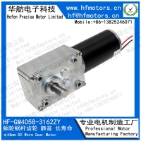 China 12V 24V 14RPM 2000mA 40mm DC Worm Gear Motor GM4058-3162ZY on sale