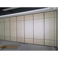 Operable Hotel Sound Proof Sliding Folding Partitions Movable Walls 6 Meters Height
