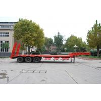 China 3 Axles Lowbed Heavy Duty Semi Trailers With 2 Legs , Flatbed Semi Trailer on sale