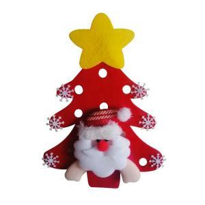 China Eco - Friendly Christmas Tree Ornaments Small DIY Felt Christmas Tree Santa Claus on sale