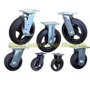 Best Moldon Rubber Caster Wheels with Cast Iron Centers wholesale