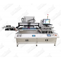 China Heat transfer PET film auto screen printing machine with auto loader & unloader on sale