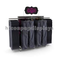 China High End Metal Clothing Store Fixtures Movable For Cowboy Jeans on sale