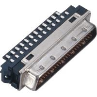 Best Male 1.27*2.54 Pitch Computer Pin Connectors SCSI 50 Pin Connector With Welded Steel Custom wholesale