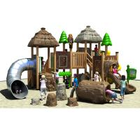 China Durable Outdoor Playground Equipment Enviromental WPC Made In The Tree House Design on sale