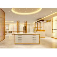China Luxury Stainless Steel Store Display Fixtures For Women Clothing Shop on sale