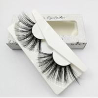 Buy cheap Natural False Eyelash Face Makeup Products Private Label Mink Eyelashes 3D Silk from wholesalers