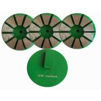 China Terrco Diamond Grinding Stones With 8 Triangle Segments For Concrete Floor on sale