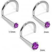Best 316 stainless steel screw nose ring with ong gem wholesale