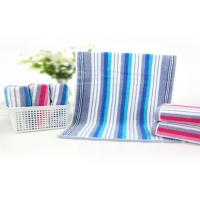China 32 Strand Striped Baby Face Washers And Towels , Newborn Baby Towel High Density on sale