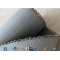 Best 1550G 1.5MM Thermal Insulation Materials Grey Silicone Coated Fiberglass Fabric wholesale