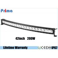 Best Single Row 200W 42 Inch Cree Curved LED Light Bar For Jeep Off Road Vehicles wholesale
