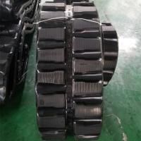 Best 86 Links Excavator Rubber Tracks , Less Vibration Kubota Replacement Tracks wholesale