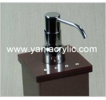 Best Brown Rectangle Acrylic Soap Dispenser , Liquid Soap Dispenser Bottle wholesale