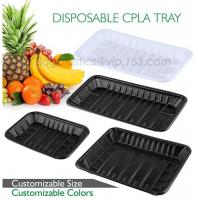 Best PLA plate best selling prodcts, biodegradable PLA dinner plate for restaurant use, pla food box for meat wholesale