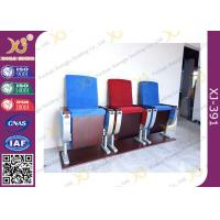 Best Three Seats Customized Strengthen Aluminum Auditorium Chairs With Square Plywood wholesale