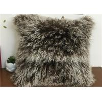 Best Tibetan Lambswool Pillow Cover Natural Long Haired Mongolian Lamb Fur Pillow wholesale