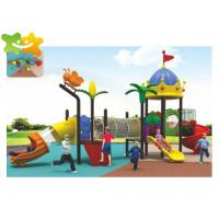 Best Outdoor Playground Equipment Kids Outdoor Plastic Slide With Climbing Net wholesale