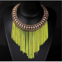 China TPN-8 fluorescent short metal chain necklace tassel necklace wholesale on sale