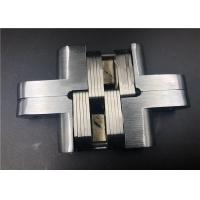 Cheap Spring Closing Heavy Duty Concealed Hinges For Doors Satin Chrome 90° Location for sale