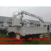 Best HOT SALE! ISUZU Brand 4*2 LHD 2tons small cargo truck with telescopic crane boom, ISUZU cargo truck with straight boom wholesale