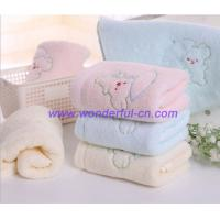 China Custom blue and pink and yellow embroidered hand towels on sale