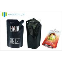 China Black Standing Spouted Pouches Packaging Light Barrier Private Laber Lotions Packaging on sale