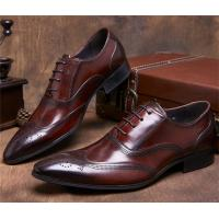 Best Almond Wingtips Toe Classic Dress Shoes Formal Occasions With Carved Patterns wholesale