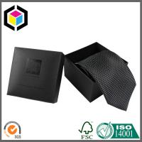 China Beautiful Black Color Chipboard Tie Packaging Box; Paper Gift Box for Tie Package on sale