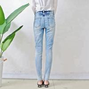 Best Bulk order china cheap price branded women jeans light blue fancy design ladies skinny jeans wholesale
