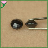 Best Cheap price loose round shape double turtles face natural black spinel wholesale