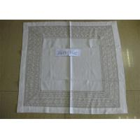 Best Elegant Pattern Natural Linen Tablecloth Hand Washing Better With 8cm Double Border wholesale