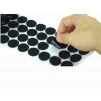 Buy cheap Die Cut Back Adhesive Hook And Loop Dots 100mm Velcro Coins Bulk product
