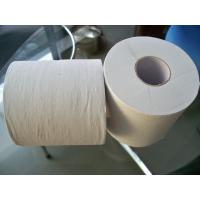 China Embossed Recycle White Toilet Tissue Paper Roll , 2ply 16gsm 10 rolls per bag on sale