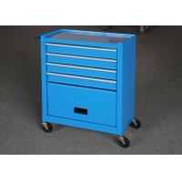 China Blue Color 24 Inch Mechanic Tool Cabinet On Wheels With Door For Security on sale
