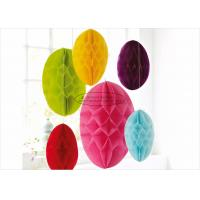 """China Hanging Yellow Paper Honeycomb Easter Egg 10 12"""" 14 Easter Lovely Egg Decoration on sale"""
