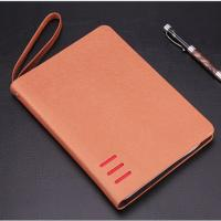 China Total 80 Sheets 6 Ring Zipper Binder , Personal Leather Notepad Binder For Business People on sale