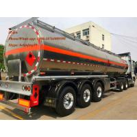 Buy cheap china supplier air suspension 3alxe aluminum tanker trailer empty weight 7T petrol tanker trailer from wholesalers